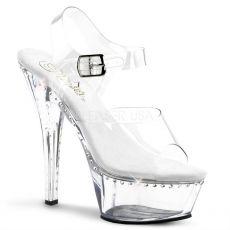 KISS-208LS Klasická strip taneční sexy obuv na podpatku průhledná