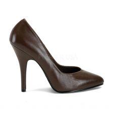 SEDUCE-420 Klasické hnědé dámské lodičky na podpatku