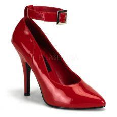 SEDUCE-431 Klasické červené dámské lodičky na podpatku