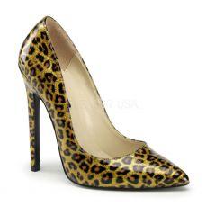 SEXY-20 Zlaté perleťové sexy lodičky na podpatku