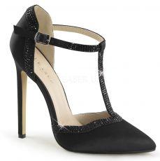 SEXY-25 Černé luxusní sexy lodičky na podpatku