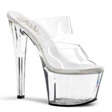 SKY-302 Průhledné dámské sexy boty na podpatku