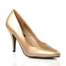VANITY-420 Zlaté dámské lodičky na podpatku