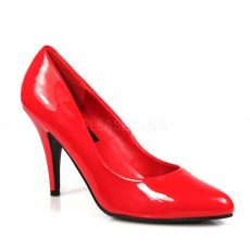 VAN420/R Klasické červené lodičky na středním podpatku