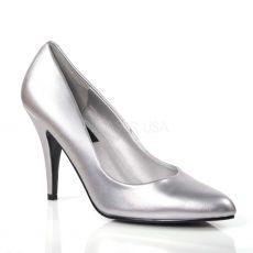 VANITY-420 Stříbrné dámské lodičky na podpatku