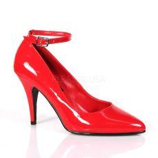 VANITY-431 Červené dámské lodičky na podpatku