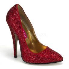 SCANDAL-620R Velmi vysoké podpatky luxusní vysoké červené dámské lodičky