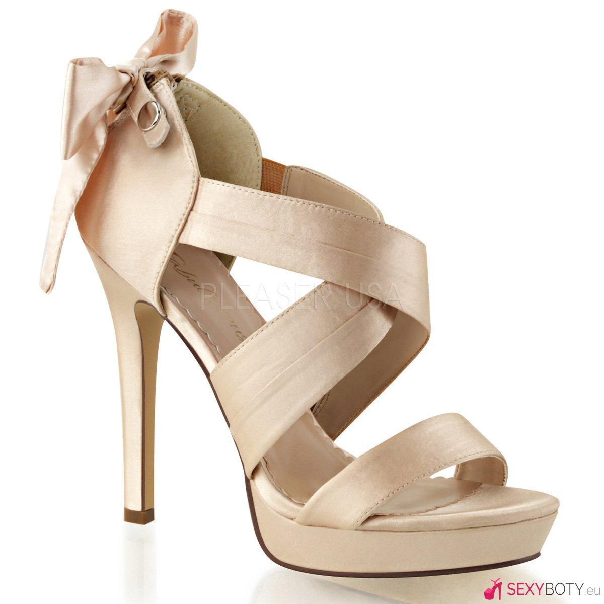 LUMINA29 CHASA Bézové svatební páskové boty na podpatku  7e11332f4d