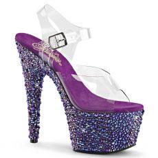 BEJ708MS/C/PPRS Luxus fialové sexy boty na vysokém podpatku