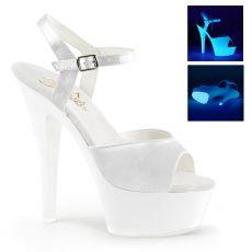 KISS-209UV Bílé svítivé sexy boty