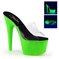 ADORE-701UVG Zelené svítící sexy boty