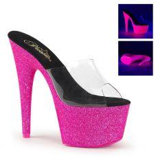 ADORE-701UVG Růžové svítící sexy boty