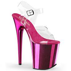FLAM808/C/HPCH Růžové sandály na extrémním podpatku