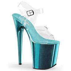 FLAM808/C/TECH Světle modré sandály na extrémním podpatku