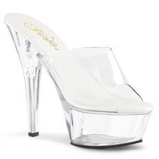 KISS201VL/C/M Průhledné sexy pantofle na vysokém podpatku