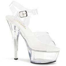 KISS-208VL Sexy průhledné sandály na vysokém podpatku a platformě