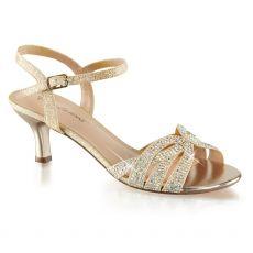 AUD03/NUFA Páskové společenské sandály na nízkém podpatku