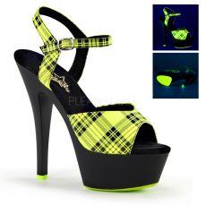 KISS-209PL Sexy sandály se žlutými svítícími pásky