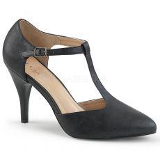 DREAM-425 Retro černé matné dámské lodičky na podpatku
