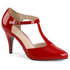 DREAM-425 Retro červené dámské lodičky na podpatku