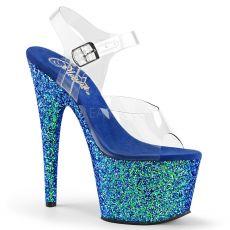 ADORE-708LG Modré luxusní taneční sexy boty