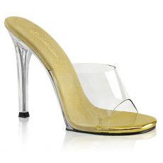 GALA-01 Pantofle na bikini fitness se zlatou stélkou