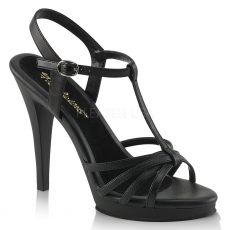 FLAIR-420 Černé matné sandálky na vysokém podpatku
