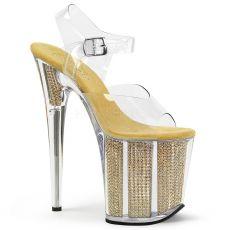 FLAMINGO-808SRS Vysoké zlaté dámské sandále