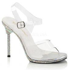 CHIC-08DM Zdobené luxusní společenské boty na jehlovém podpatku