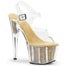ADORE-708SRS Zlatá sexy obuv na podpatku a platformě