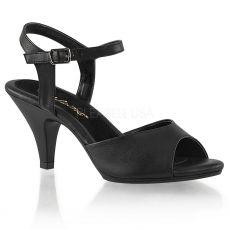 BELLE-309 Černé matné plesové sandály