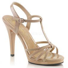 FLAIR-420 Tělové páskové sandály na podpatku