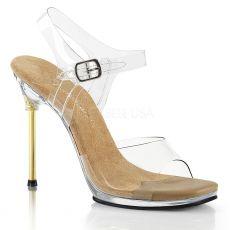CHIC-08 Sandály na úzké kovové jehle
