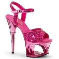 MOON-709GT Taneční růžové sandály na vysokém podpatku