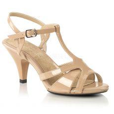 BELLE-322 Tělové sandály na nízkém podpatku