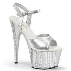 ADORE-709VLRS Stříbrné sexy boty