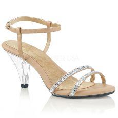 BELLE-316 Páskové tělové sandály na nízkém podpatku