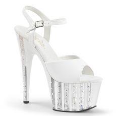 ADORE-709VLRS Bílé sexy boty na vysokém podpatku a platformě