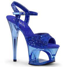MOON-710GT Modré sexy boty na podpatku