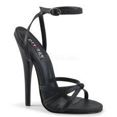 DOMINA-108 Černé erotické sandálky na vysokém podpatku