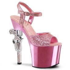 REVOLVER-709G Růžové sexy boty s vysokým podpatkem revolver