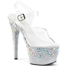 ADORE-708ROSE Luxusní sandály na vysokém podpatku