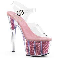 ADORE-708G Růžové go-go sandály na vysokém podpatku