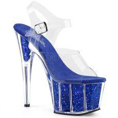 ADORE-708G Modré exotic dance sandály