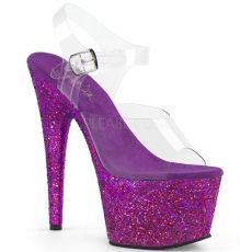 ADORE-708LG Sexy boty s fialovými třpytkami ado708lg/c/ppg