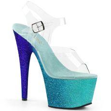 ADORE-708OMBRE Sexy boty na vysokém podpatku mořská modř
