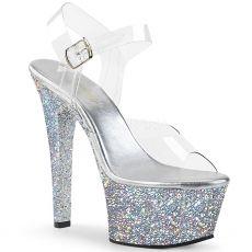 ASPIRE-608LG Stříbrné sexy sandály na vysokém podpatku asp608lg/c/sg