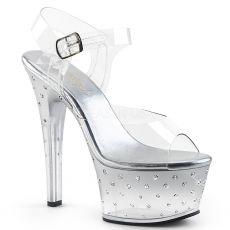 ASPIRE-608STD Luxusní stříbrné průhledné sexy boty asp608std/c/s-c