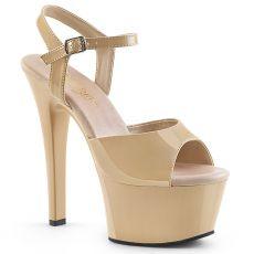 ASPIRE-609 Krémové sexy boty na vysokém podpatku asp609/cr/m