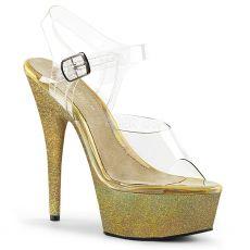 DELIGHT-608HG Zlaté sandály na vysokém podpatku del608hg/c/ghg